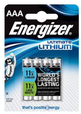 Energizer Litium - AAA 4-pack
